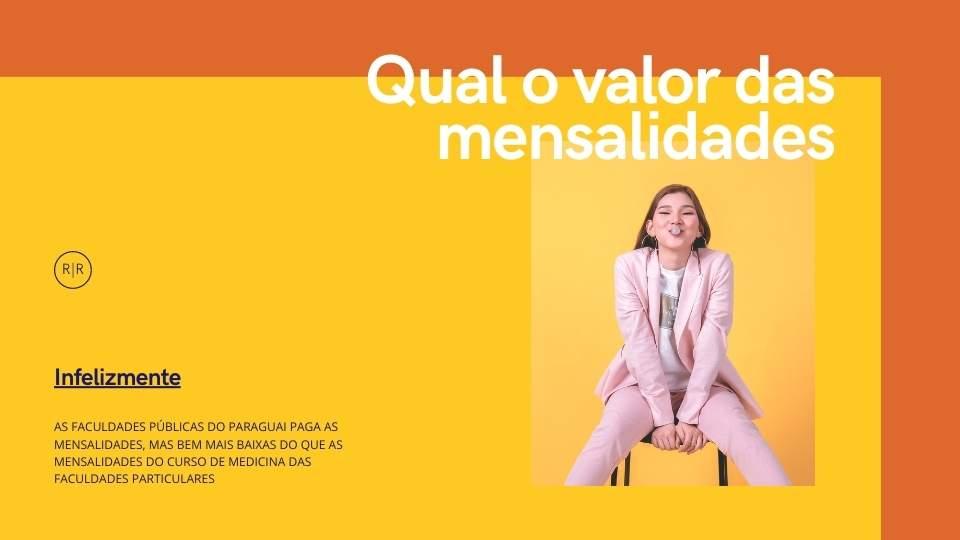 Mensalidades faculdade publica Paraguai